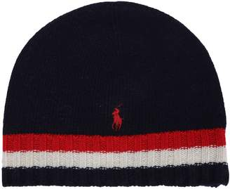 Ralph Lauren Striped Knit Beanie