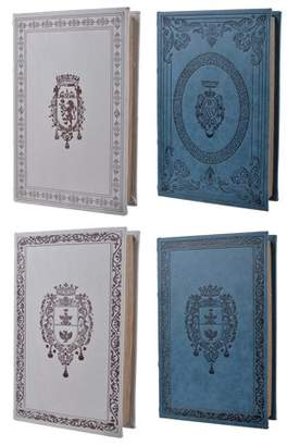 A&B Home Turin Book Boxes, Classics, Set of 4