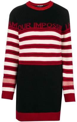 Pinko striped jumper dress