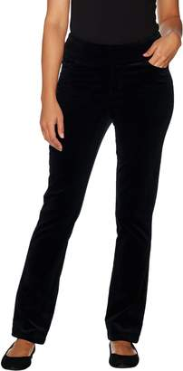 Denim & Co. Petite Smooth Waist Stretch Corduroy Pull-on Pants