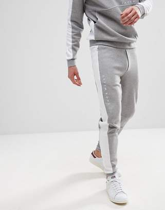 Jack Wills Raynham Color Block Joggers in Gray