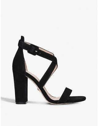 Kurt Geiger London Dover suede crossover-strap heeled sandals
