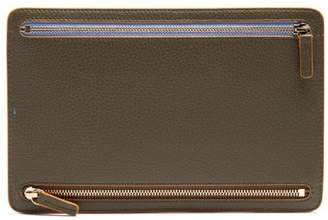 Smythson Burlington grained-leather currency wallet