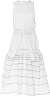 Proenza Schouler Drop Waist Twill Dress