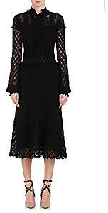 Valentino WOMEN'S CROCHET COTTON LONG-SLEEVE DRESS