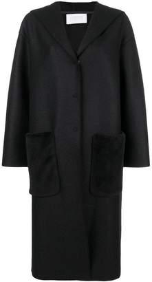 Harris Wharf London wool hooded coat