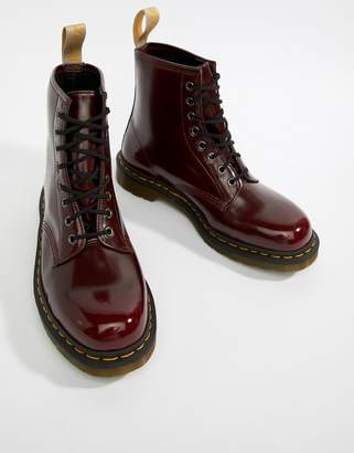 Dr. Martens faux leather 1460 8-eye boots in red
