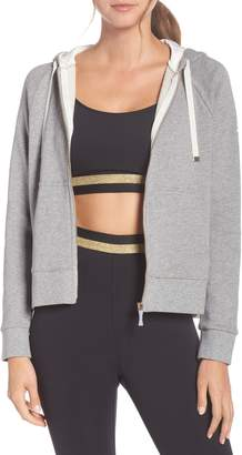 Kate Spade mixed media full zip sweatshirt