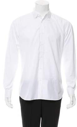 Saint Laurent Club Collar Button-Up Shirt
