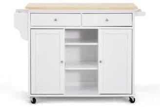 Baxton Studio Meryland Modern Kitchen Island Cart White