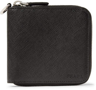 Prada Saffiano Leather Zip-Around Wallet
