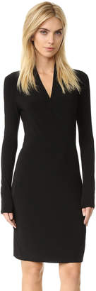 Norma Kamali Long Sleeve Side Draped Dress $150 thestylecure.com