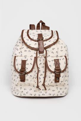 Ardene Canvas Anchor Backpack