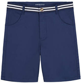 Andy & Evan Mock Belted Twill Shorts, Size 3-36 Months