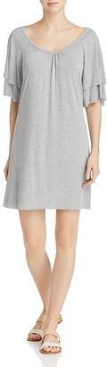 Three Dots Layered Sleeve Tee Dress $118 thestylecure.com