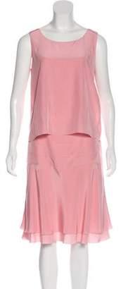 Chanel Silk Layered Dress