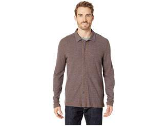 Agave Denim Felspar Long Sleeve Full Button Polo