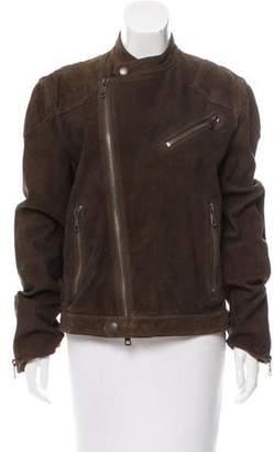 Burberry Suede Moto Jacket