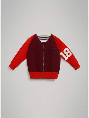 Burberry Merino Wool and Cotton Baseball Jacket