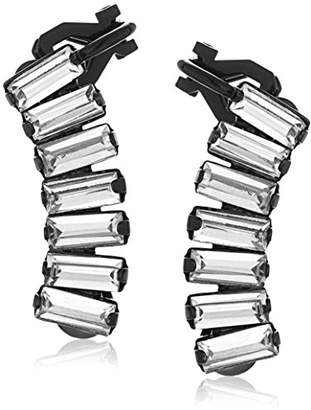 "ABS by Allen Schwartz Black Magic"" Stone Climber Earrings"