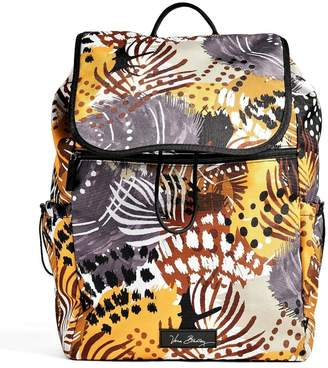 Vera Bradley Painted Feathers Drawstring Backpack