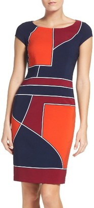 Women's Laundry By Shelli Segal Geometric Sheath Dress $195 thestylecure.com