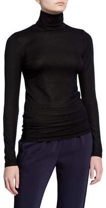 Neiman Marcus Majestic Paris for Metallic Turtleneck Long-Sleeve Tee