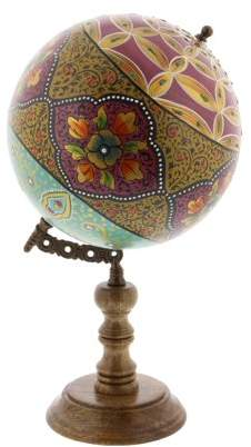 DecMode Decmode Traditional 15 inch multicolored resin and wood decorative lattice globe, Multicolor
