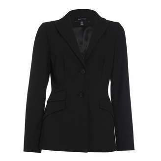Black Tailored Button Up Jacket