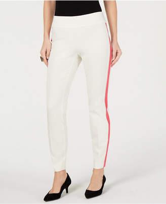 Alfani Side-Stripe Skinny Pants