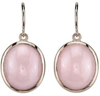 Irene Neuwirth Round Pink Opal Drop Earrings