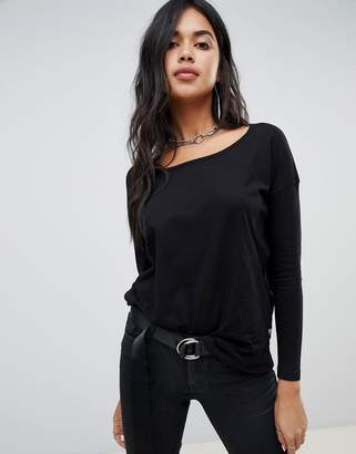 G Star G-Star top with curved hem