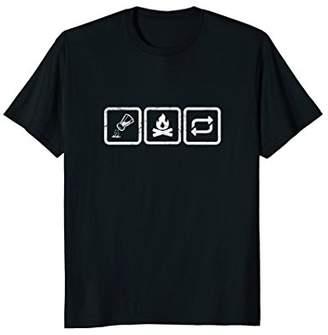 Salt Burn Repeat Symbols: funny supernatural spirit t-shirt