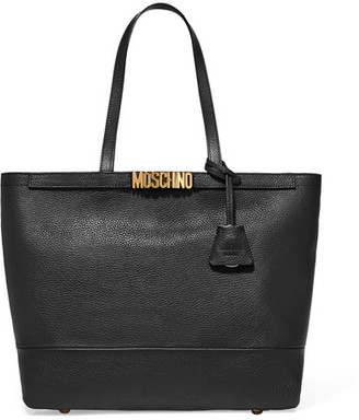 Moschino - Embellished Textured-leather Tote - Black $1,250 thestylecure.com