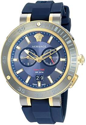 Versace Men's 'V-Extreme Pro' Swiss Quartz Stainless Steel and Silicone Casual Watch