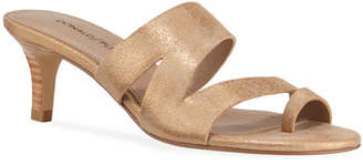 Donald J Pliner Klarisa Metallic Leather Slide Sandals