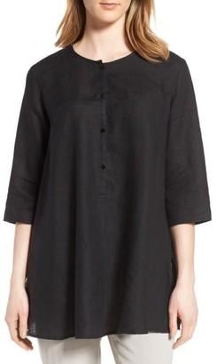 Women's Eileen Fisher A-Line Organic Linen Tunic $218 thestylecure.com
