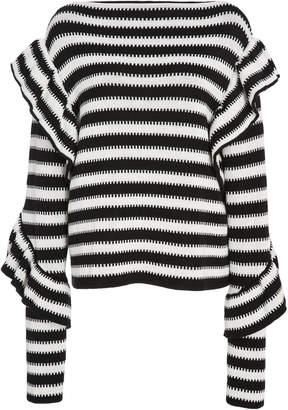Philosophy di Lorenzo Serafini Pure Striped Cotton Sweater