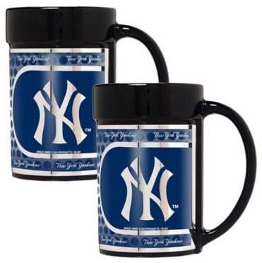 MLB New York Yankees Metallic Coffee Mugs (Set of 2)