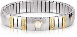 Nomination Single Pearl Golden Stainless Steel Women's Bracelet w/Cubic Zirconia
