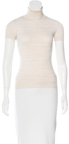 Dolce & GabbanaDolce & Gabbana Striped Metallic Turtleneck Sweater