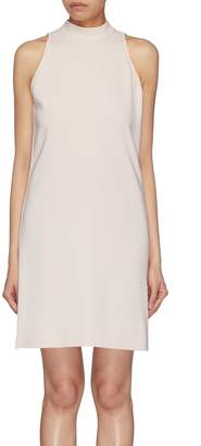 Theory 'Clean' sash tie back crepe dress