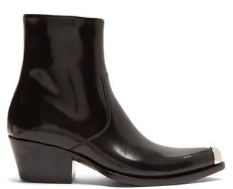 Calvin Klein Tex Chiara leather ankle boots