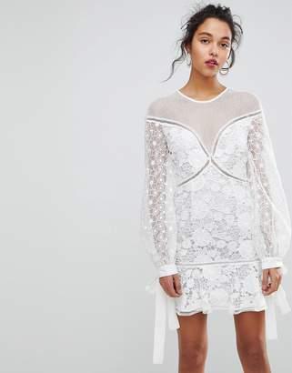 Keepsake Floral Lace Mini Dress