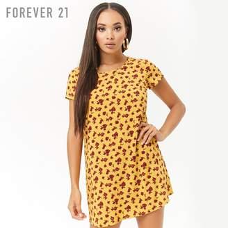 Forever 21 (フォーエバー 21) - Forever 21 フラワーシフトミニワンピース