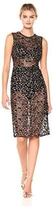 BCBGMAXAZRIA Azria Women's Riley Woven Metallic Illusion Dress