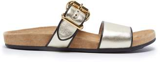 Prada Double-strap leather sandals