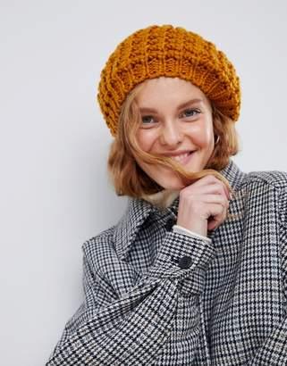 Asos Design DESIGN chunky mustard beret