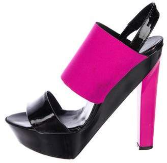 Pierre Hardy Patent Leather Slingback Sandals
