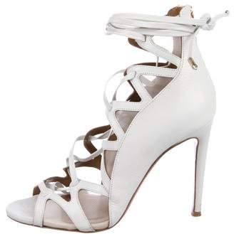 Aquazzura Leather Lace-Up Sandals
